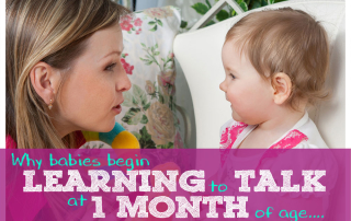 Why babies begin learning to talk at 1 month of age