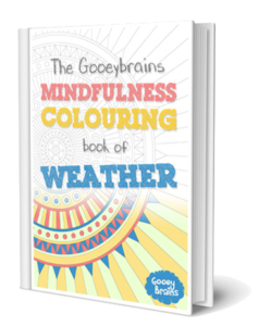 The gooeybrains mindfulness colouring book of weather