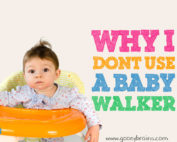Why I don't use a baby walker blog post