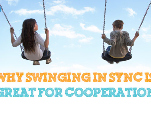 Why swinging in sync helps learn cooperation